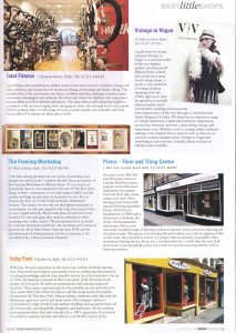 Bath Magazine Best Little Shops July 2013